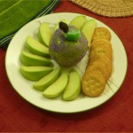 Halloween poison apple dip